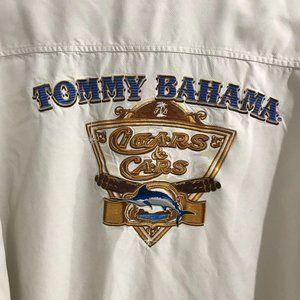 Tommy Bahama Cigars & Cars Button Down Shirt XL